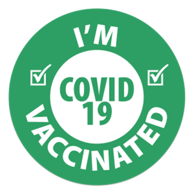 I'm Vaccinated Stickers - Green
